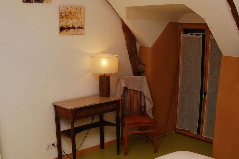 Desk in the attic room