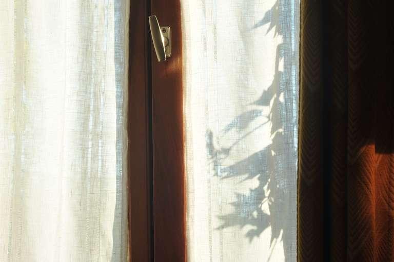 Chinesische Schatten am Fenster